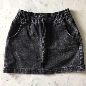 BDG Acid Wash Denim Mini Skirt